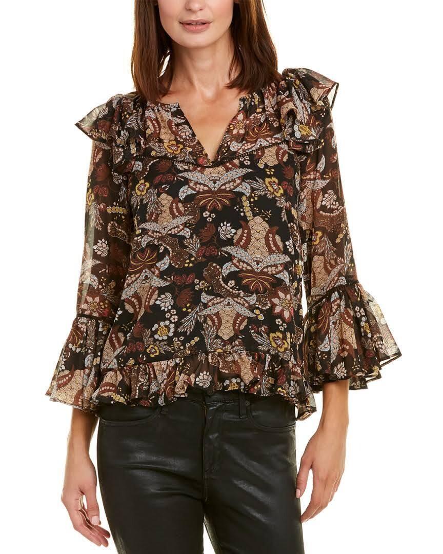 Allison floral ruffle blouse