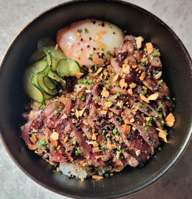 Australian Striploin Rice Bowl