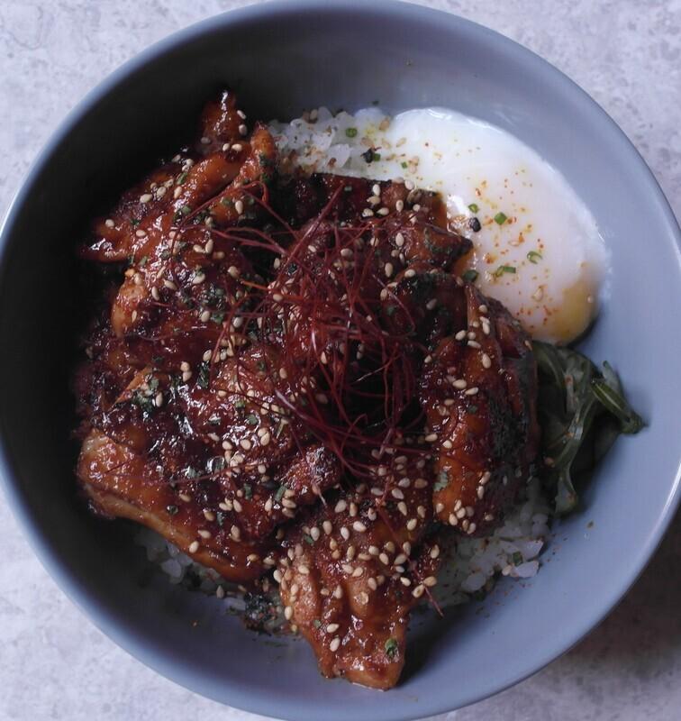 Spicy Miso Chicken Rice Bowl
