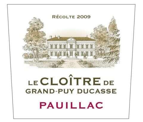 2009 LE CLOITRE DE GRAND-PUY DUCASSE, PAUILLAC