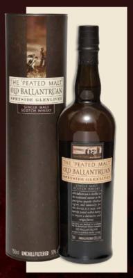OLD BALLANTRUAN THE PEATED MALT SPEYSIDE GLENLIVET SINGLE MALT SCOTCH WHISKEY