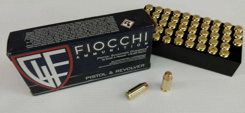 Fiocchi Ammunition .40 S&W 170 gr FMJTC