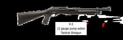 Radikal MODEL P-3-12G-20B  12 GAUGE PUMP ACTION TACTICAL SHOTGUN