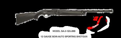 Radikal MODEL SA-3-12G-28B 12 GAUGE SEMI-AUTO SPORTING SHOTGUN