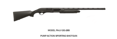 Radikal  MODEL PA-2-12G-28B PUMP ACTION SPORTING SHOTGUN