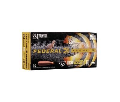 Federal Premium .224 Valkyrie Varmit Ballistic Tip