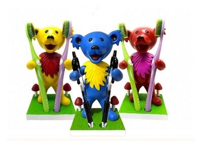 Dancing Bear Bobblehead Holder Yellow