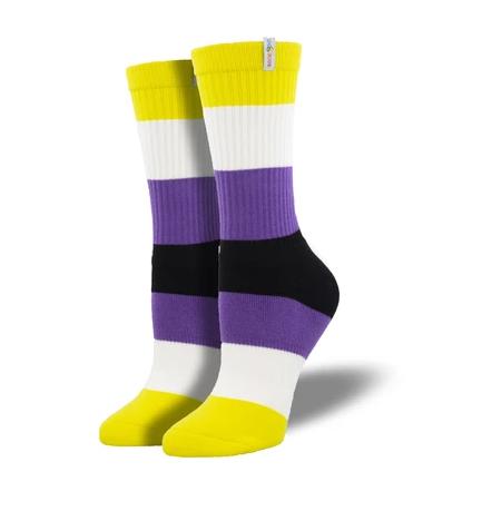 Nonbinary Pride Socks s-m