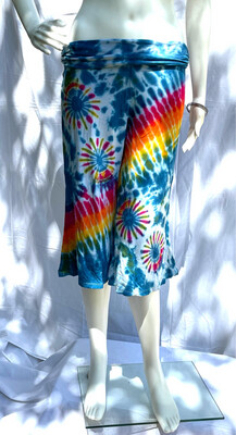 Tie Dyed Cropped Yoga Pants