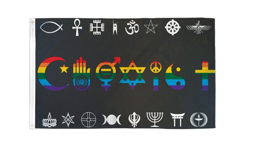 Coexist Rainbow 3x5 Flag