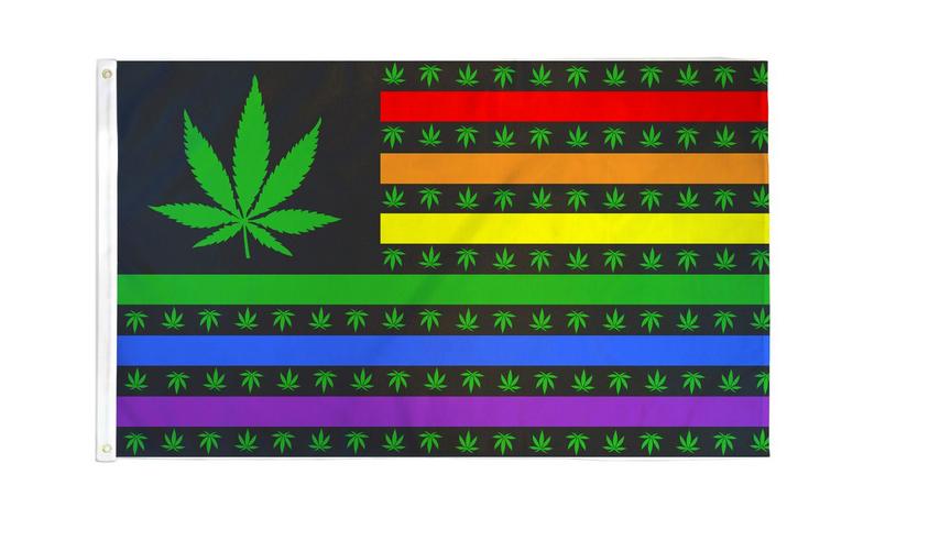 Green Leaf USA Rainbow Waterproof 3x5 Flag