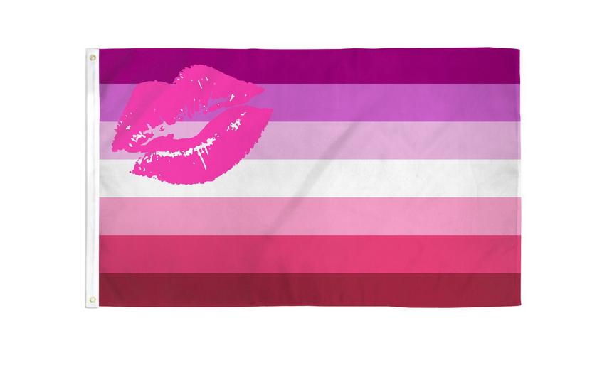 Lipstick 3x5 Flag