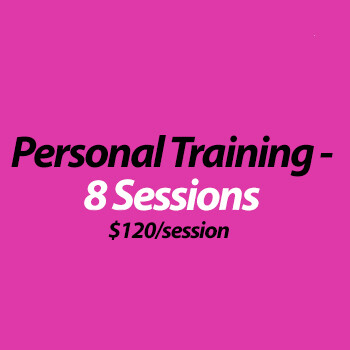 Personal Training (in studio) - 8 Sessions