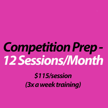 Competition Coaching (in studio) - 12 Sessions/month