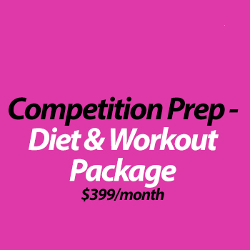 Competition Prep Online: Diet & Workout Program (4 weeks)