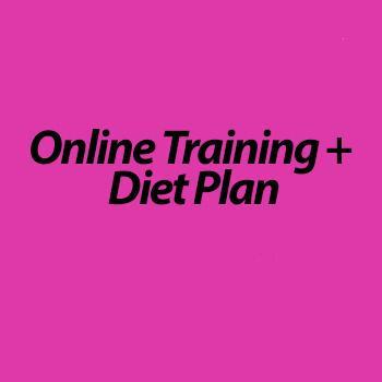 Online Training & Diet Plan (1 month)