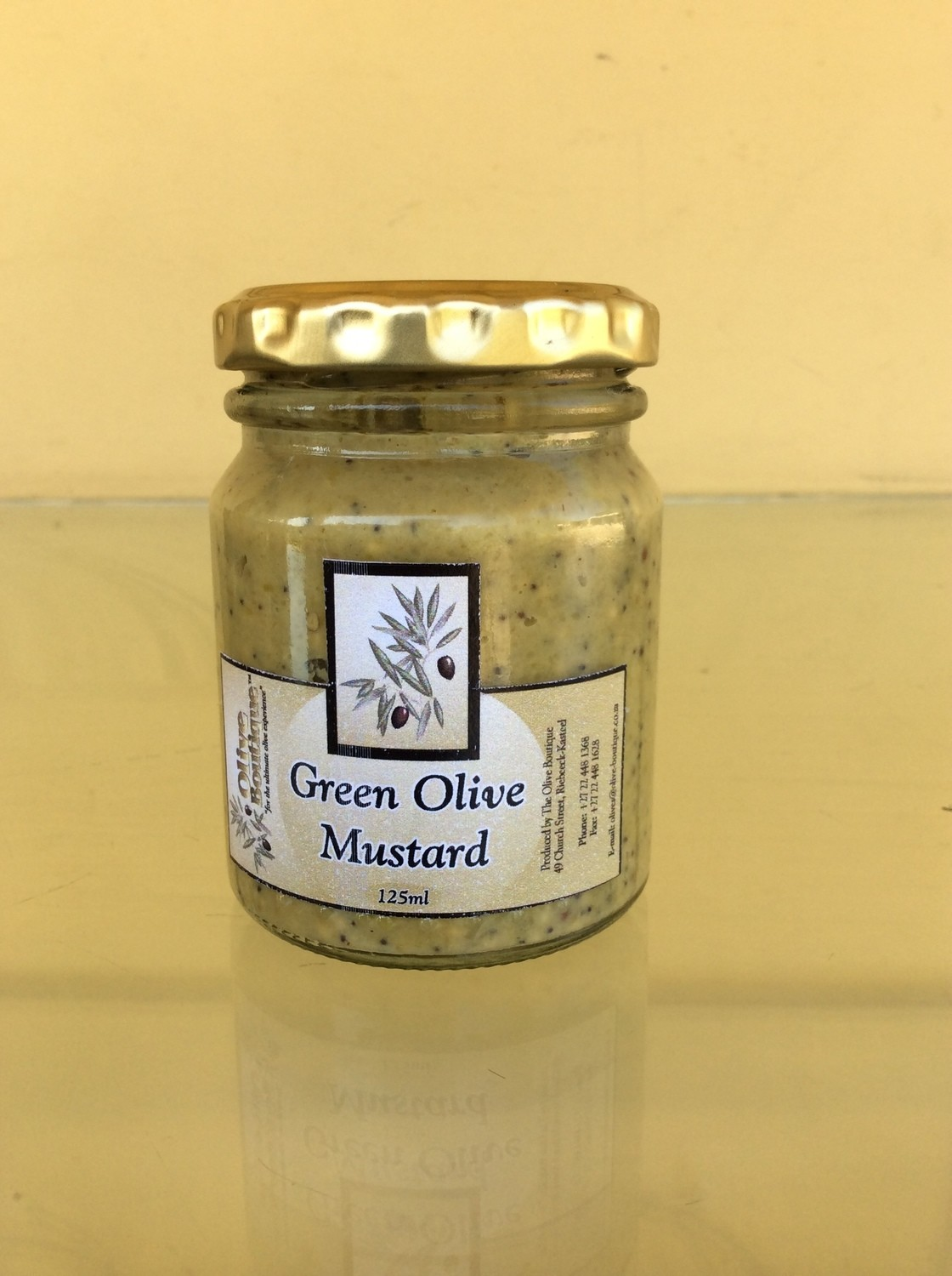 Case of 24 X 125 ml Green Olive Mustard