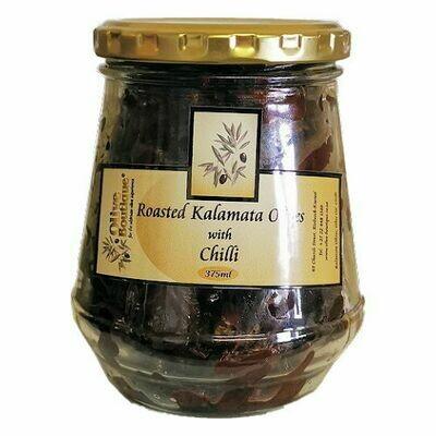 Case of 24 X 375 ml Roasted Kalamata Olives with Chilli
