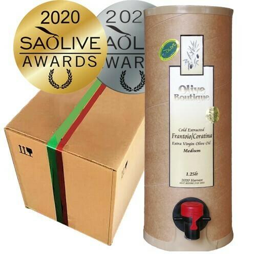 Mixed Case of 4 X 1.25 L Awarding Winning Extra Virgin Olive Oils
