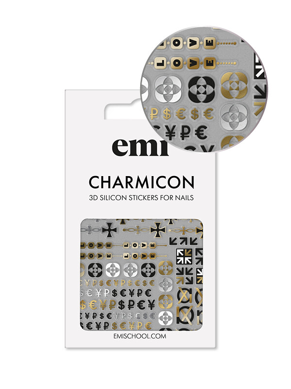 Charmicon 3D Silicone Stickers #174 Icons