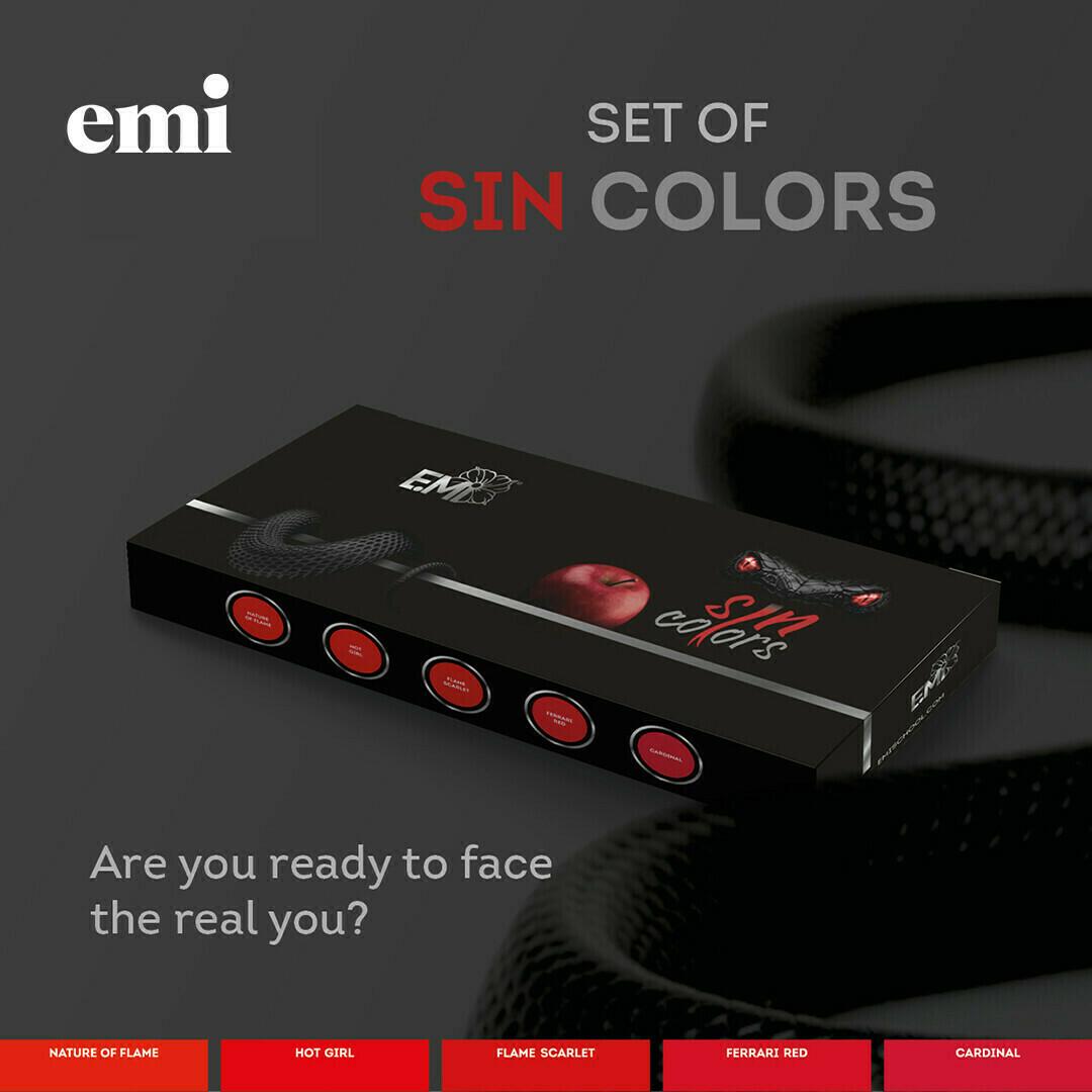 Rinkinys E.MiLac Sin Colors, 9 ml.