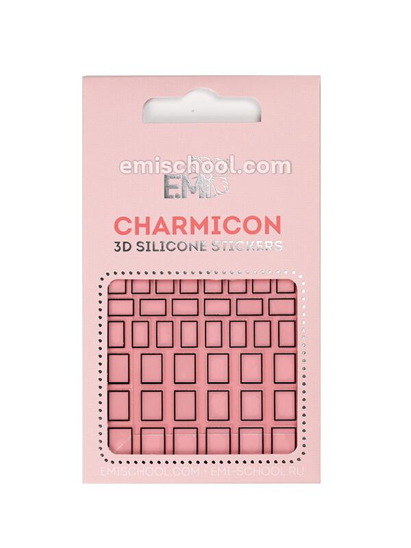 Charmicon 3D Silicone Stickers #113 Squares Black