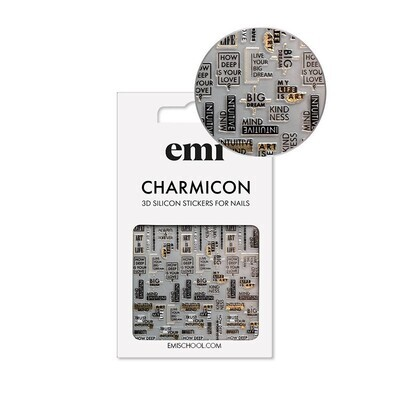 Charmicon 3D Silicone Stickers 195 Art is Life