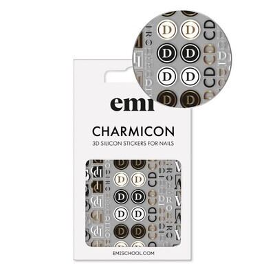 Charmicon 3D Silicone Stickers 186 Logomania