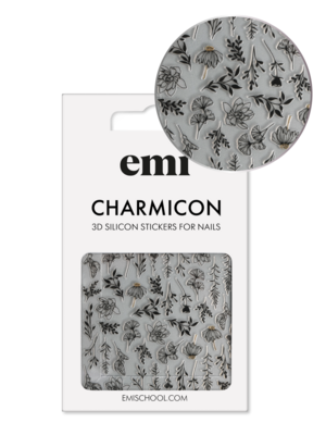 Charmicon 3D Silicone Stickers #191 Autumn Tenderness_Black