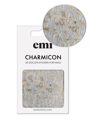 Charmicon 3D Silicone Stickers #190 Autumn Tenderness_Gold
