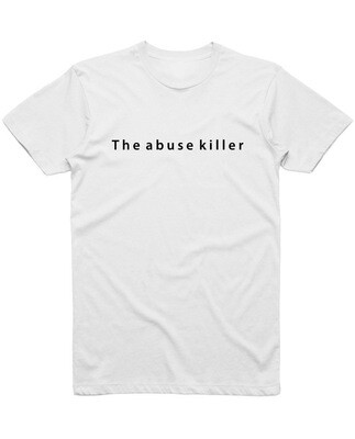 "Футболка ""The abuse killer"" фраза"