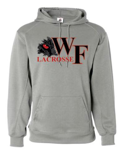 WF Lacrosse Gray Performance Wear Hoodie