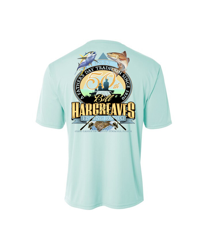 2021 50th Anniversary Hargreaves Fishing Rodeo Short Sleeve Performance Shirt