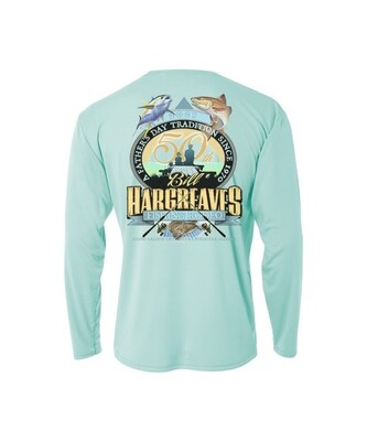 2021 50th Anniversary Hargreaves Fishing Rodeo Long sleeve Performance Shirt