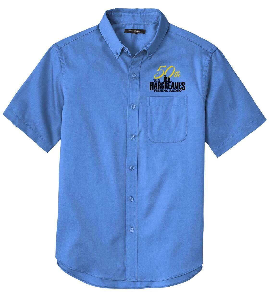 2021 50th Anniversary Hargreaves Fishing Rodeo Short Sleeve Twill Shirt
