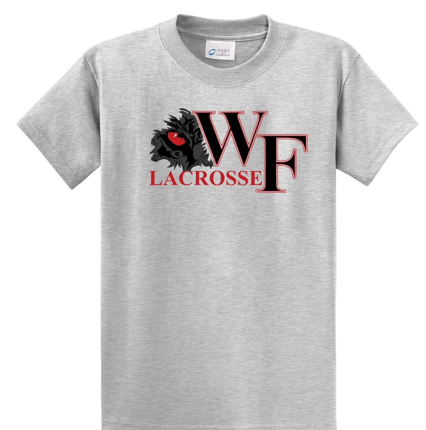 WF Lacrosse Short Sleeve Gray Tee