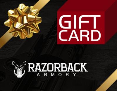 Razorback Armory Gift Card