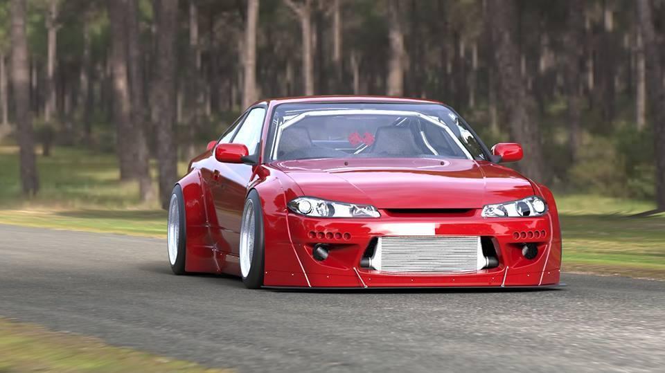 Rocket Bunny V2 Aero - Nissan Silvia (S15) - F/Diffuser Stay (only) 00000