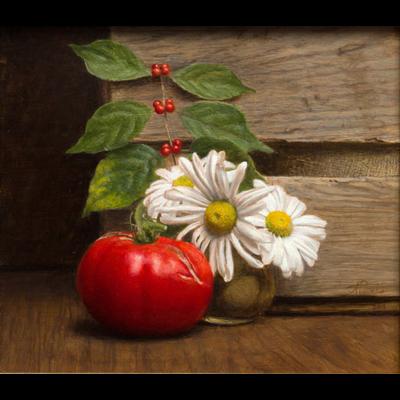 Arkansas Tomato and Shasta Diasies