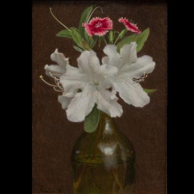 Azalea and Dianthus