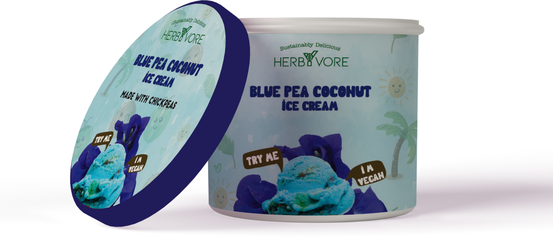 HebyVore Coconut Icecream with Blue Pea