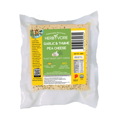 HerbYvore Garlic & Thyme Pea Cheese (250 g)