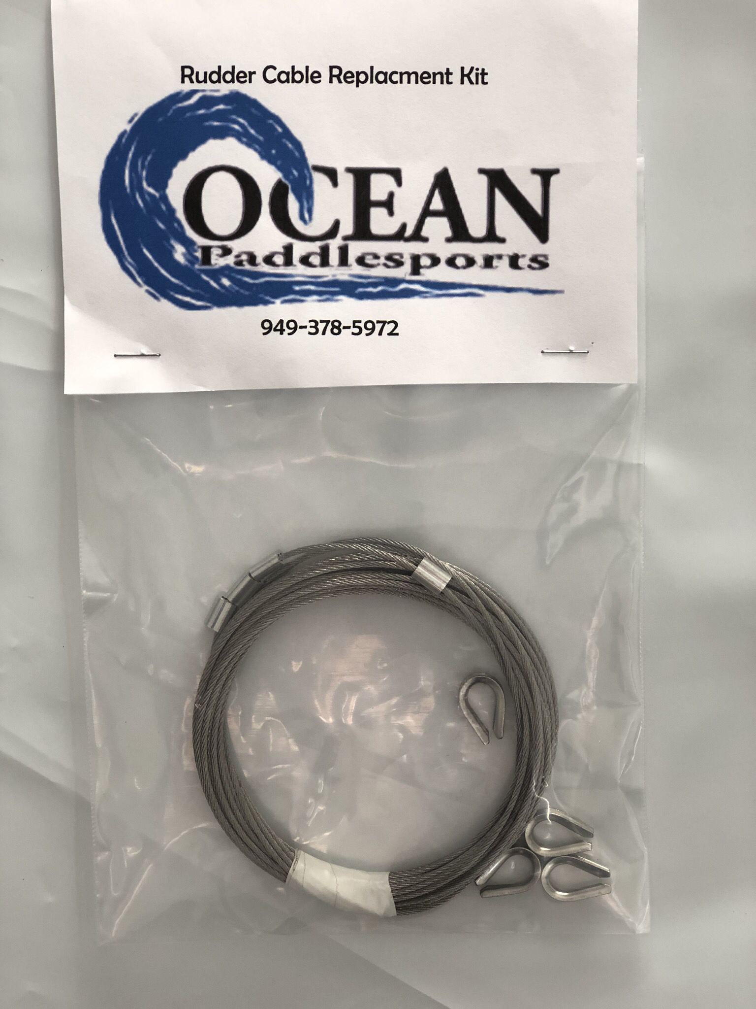 Rudder cable replacement kit