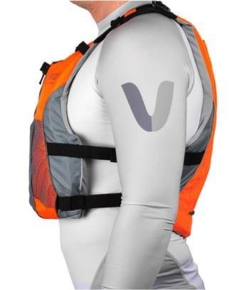Vaikobi V3 OCEAN RACING PFD- FLURO ORANGE- GREY