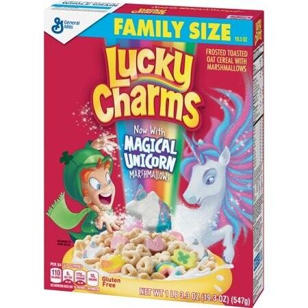Cereal de Malvaviscos con Unicornios Lucky Charm