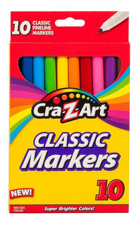 Marcadores clásicos Crazart punta fina- 10 unidades