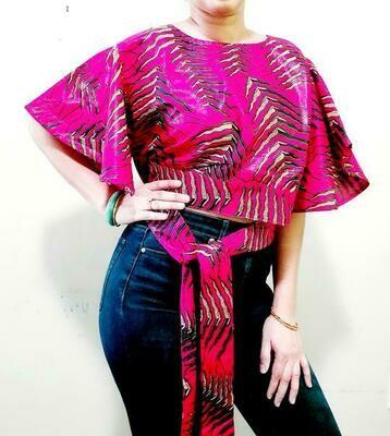 Pink Palm Crop Top