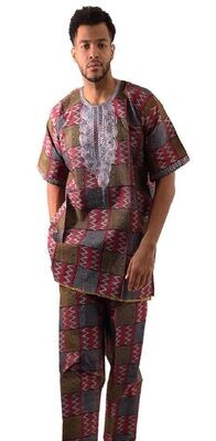 Woven Wine 2pc Embroidered Set