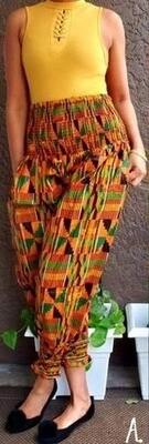 Kente #1 Harem Pants