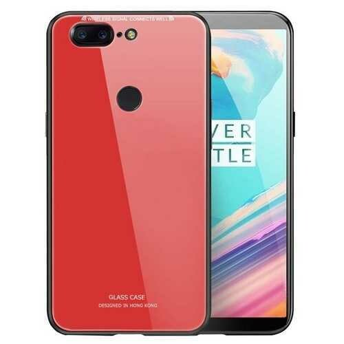 """Bakeey?""""? Tempered Glass Mirror Back Cover Soft TPU Frame Protective Case for OnePlus 5T"""